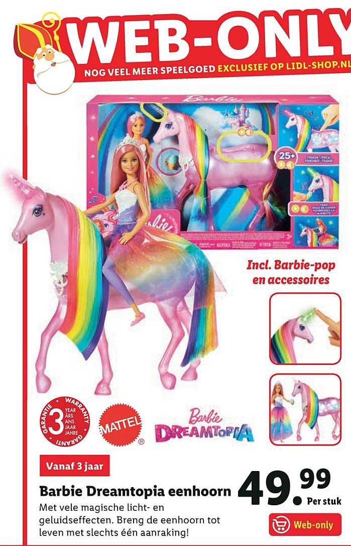 Lidl Barbie Dreamtopia Eenhoorn