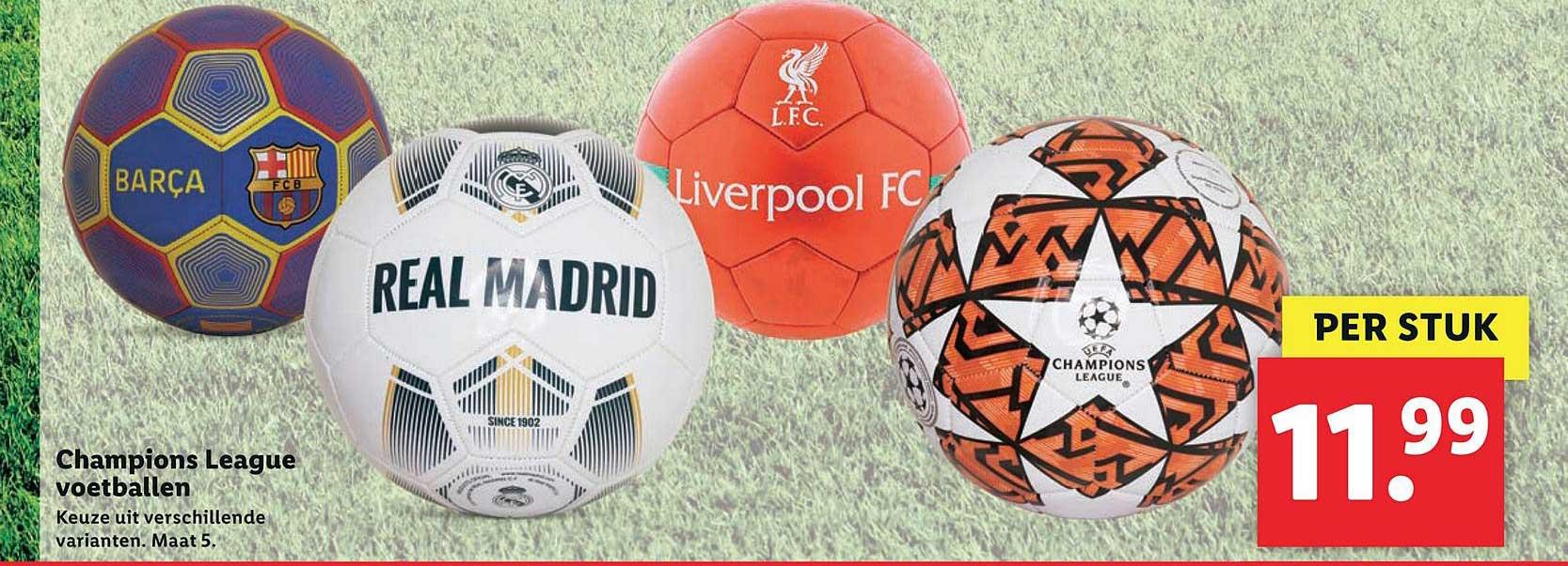 Lidl Champions League Voetballen