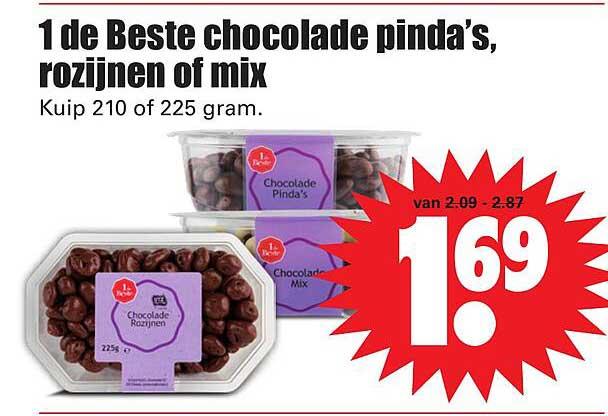 Dirk 1 De Beste Chocolade Pinda's, Rozijnen Of Mix