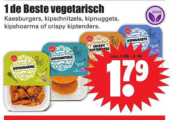 Dirk 1 De Beste Vegetarisch Keesburgers, Kipschnitzels, Kipnuggets, Kipshoarma Of Crispy Kiptenders