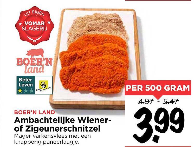 Vomar Ambachtelijke Wiener- Of Zigeunerschnitzel