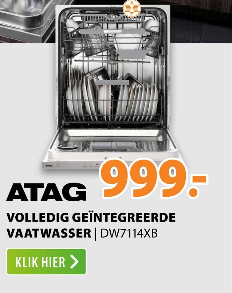 Expert Atag Volledig Geïntegreerde Vaatwasser   DW7114XB