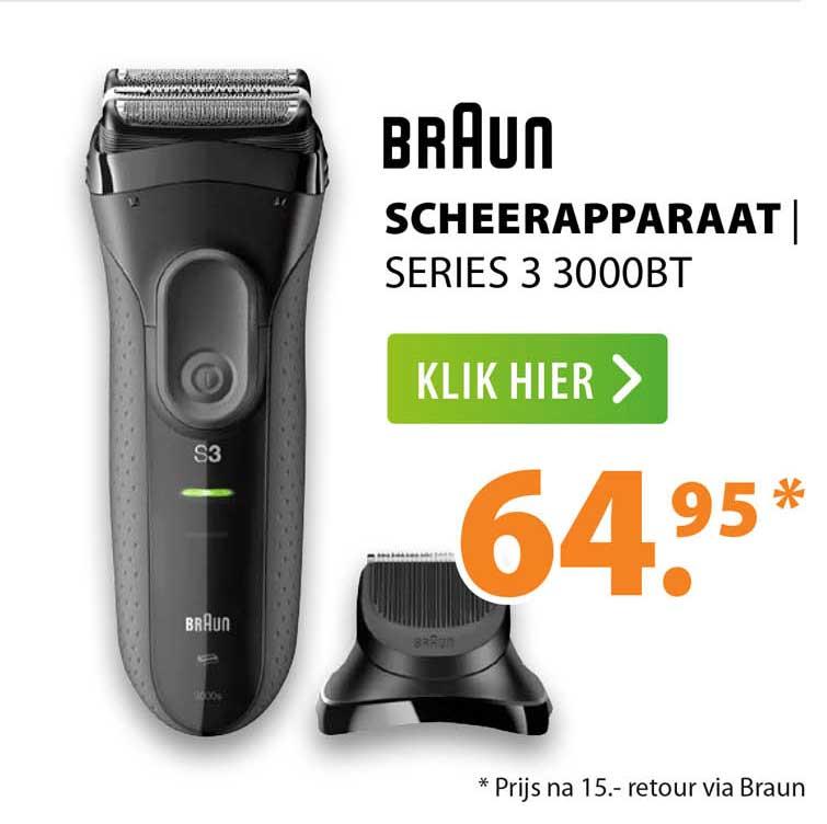 Expert Braun Scheerapparaat   Series 3 3000BT