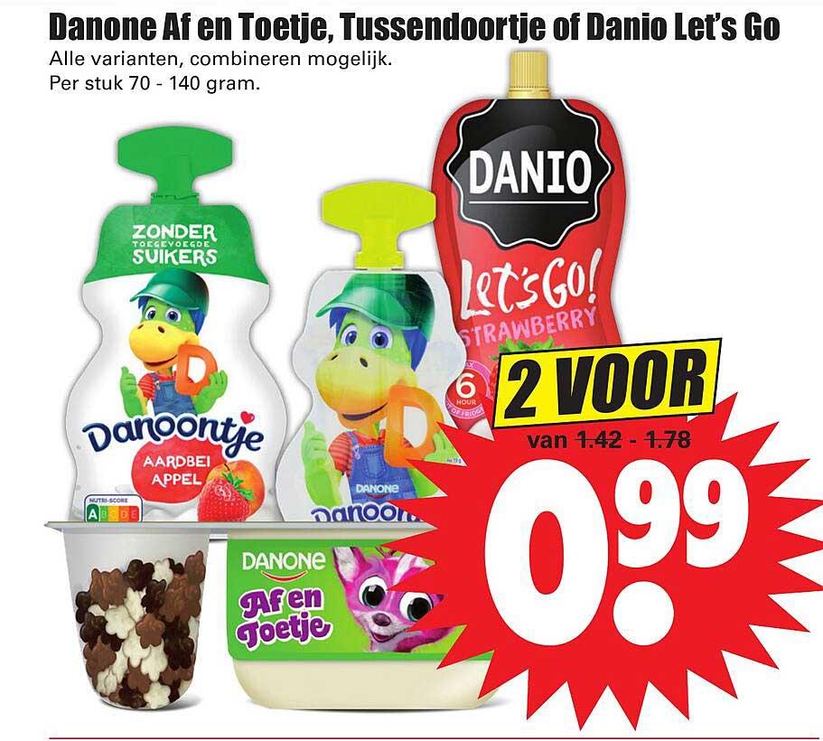 Dirk Danone Af En Toetje, Tussendoortje Of Danio Let's Go