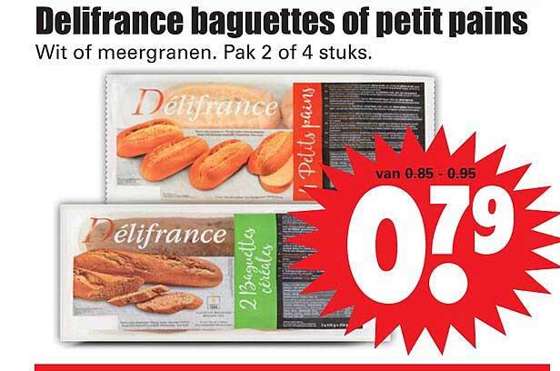 Dirk Delifrance Baguettes Of Petit Pains Wit Of Meergranen