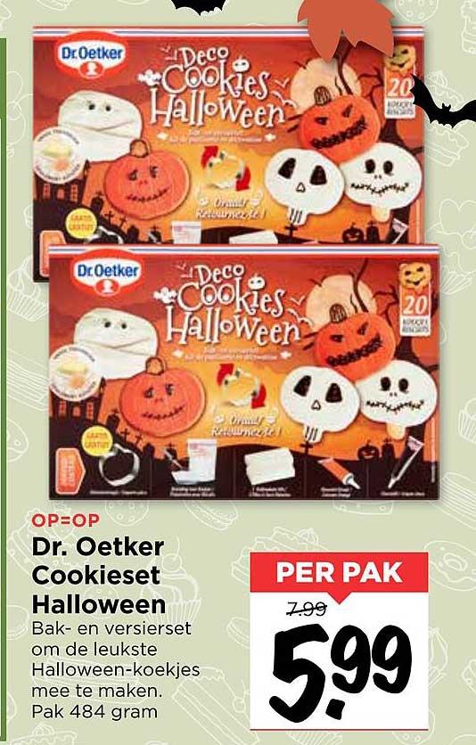 Vomar Dr. Oetker Cookieset Halloween
