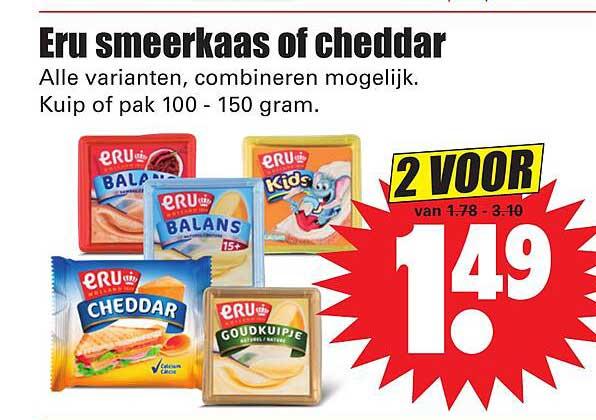 Dirk Eru Smeerkaas Of Cheddar