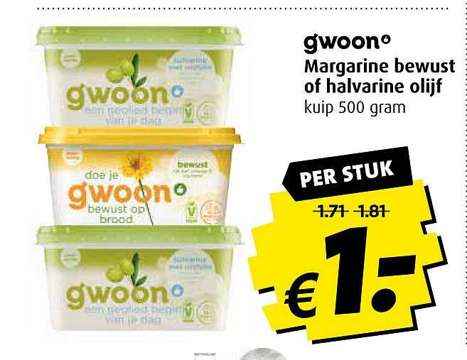Boni Gwoon Margarine Bewust Of Halvarine Olijf