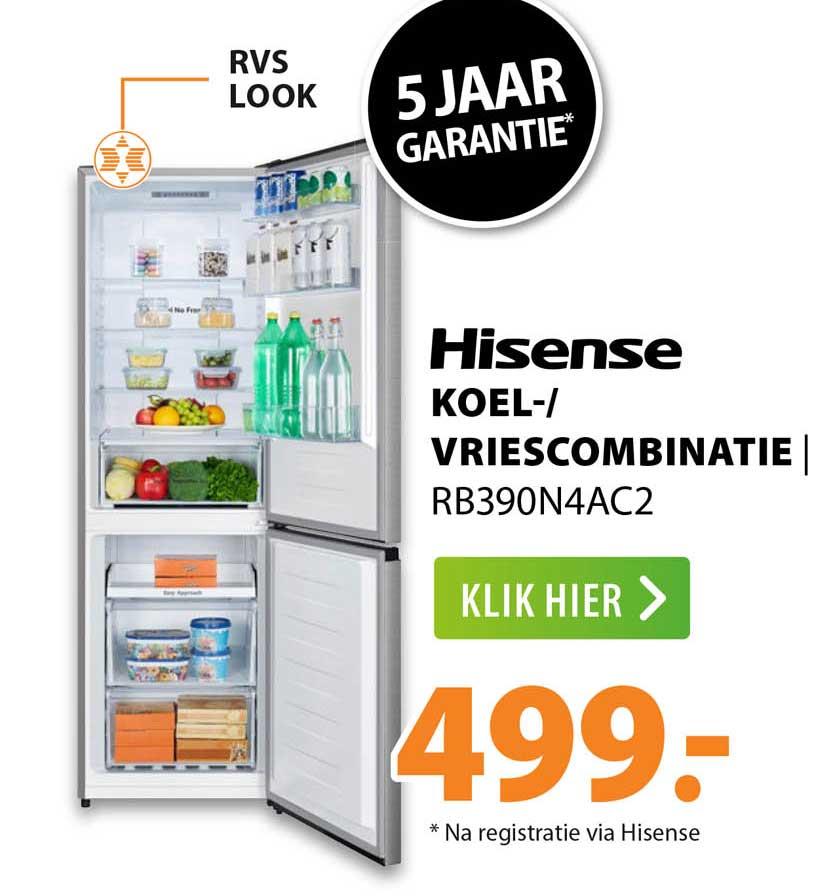 Expert Hisense Koel--Vriescombinatie RB390N4AC2