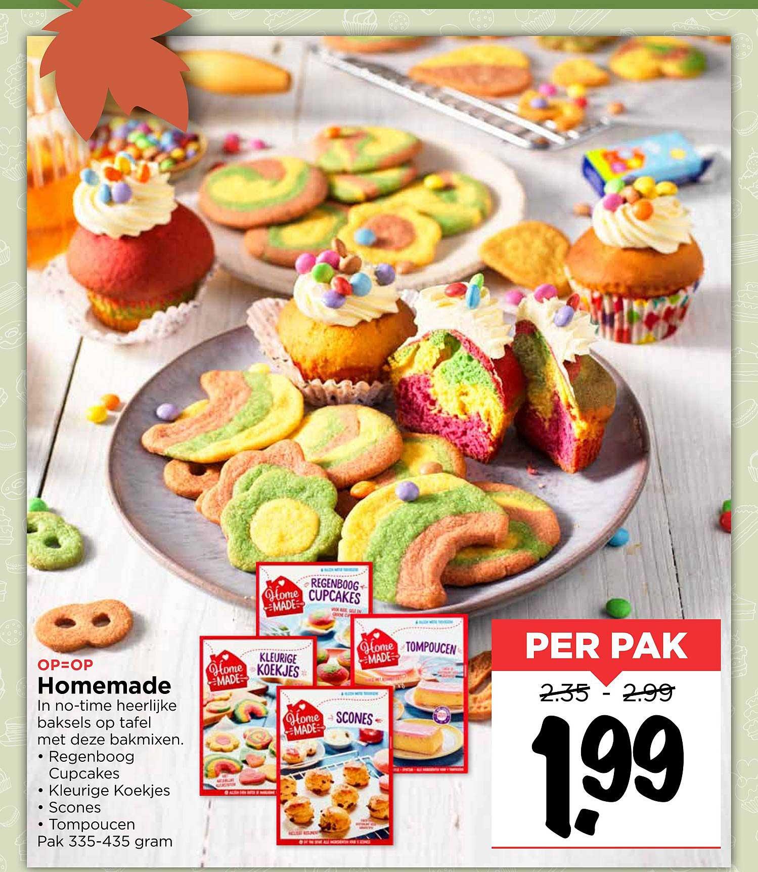 Vomar Homemade Regenboog Cupcakes, Kleurige Koekjes, Scones Of Tompoucen