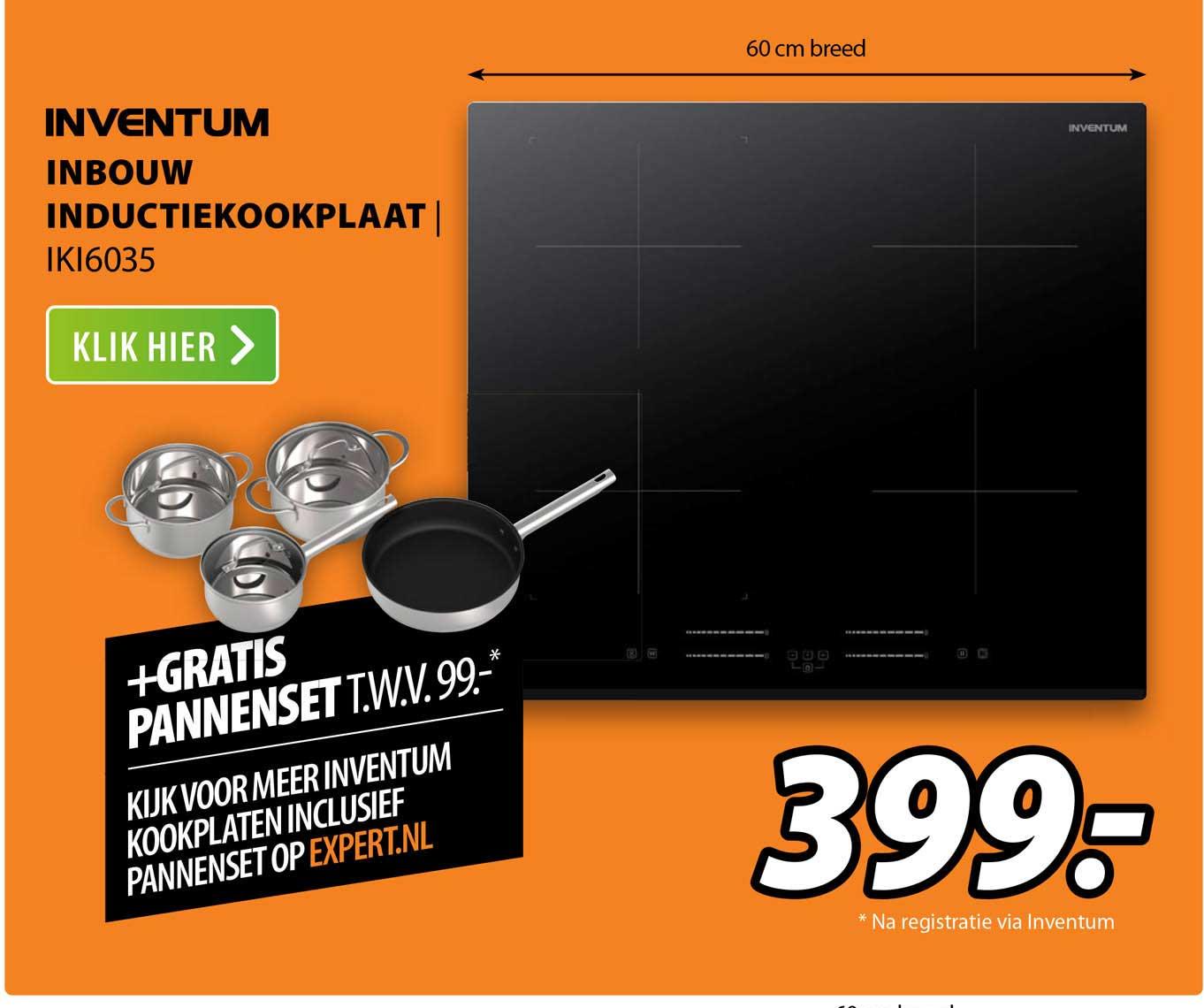 Expert Inventum Inbouw Inductiekookplaat   IKI6035