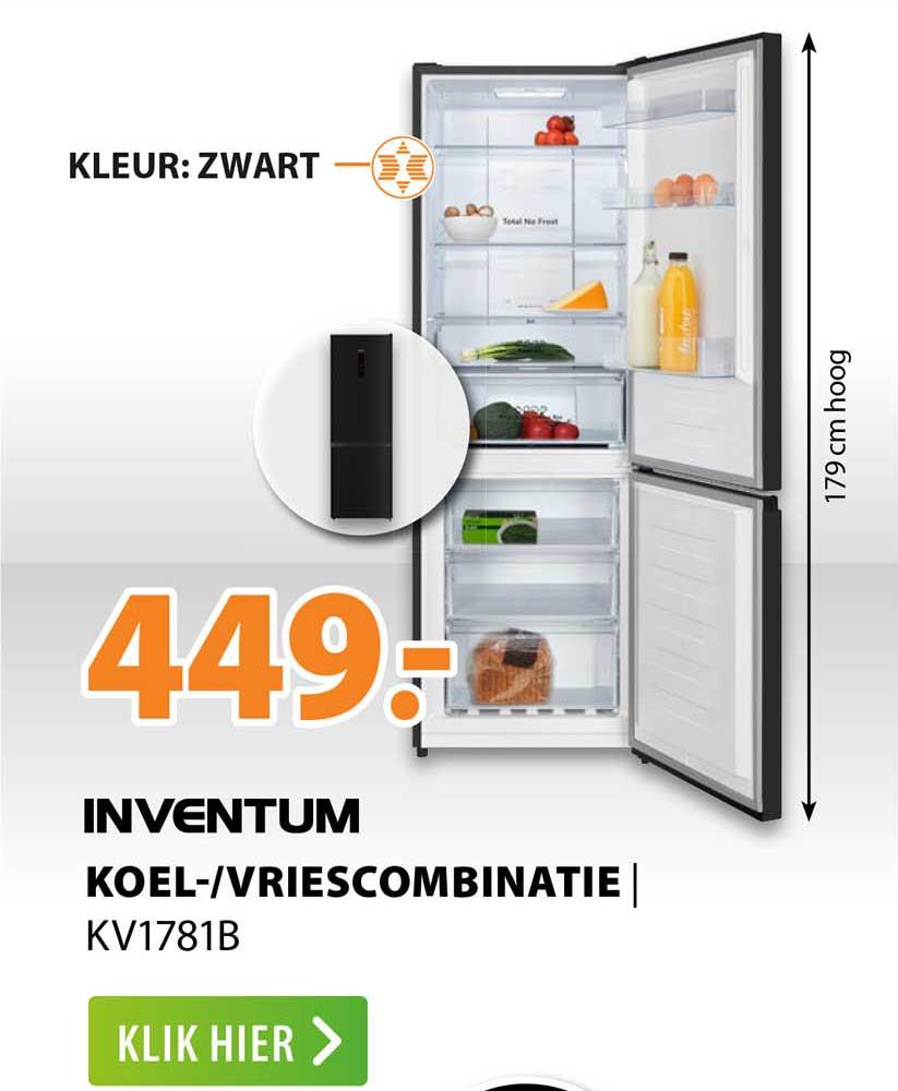 Expert Inventum Koel--Vriescombinatie   KV1781B
