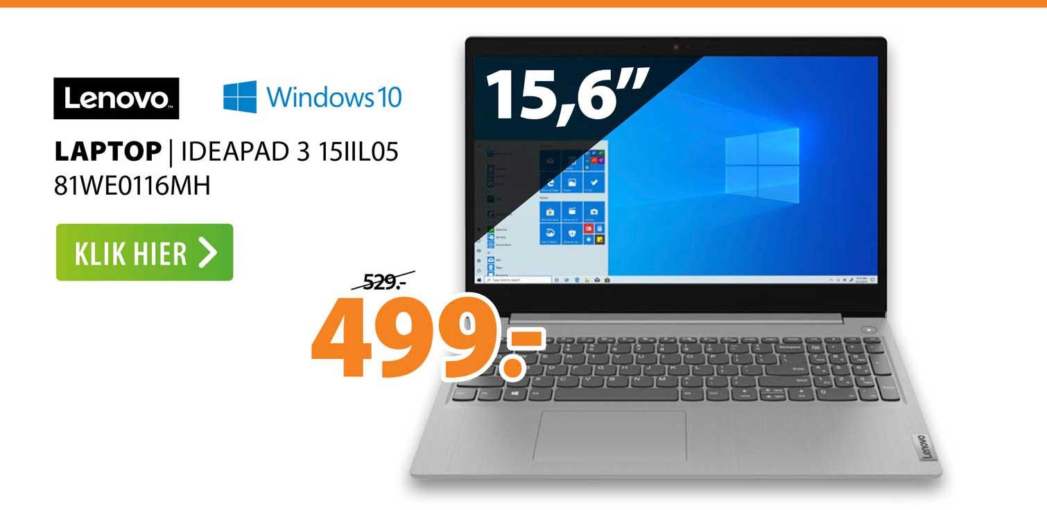 Expert Lenovo Laptop   Ideapad 3 15IIL05 81WE0116MH