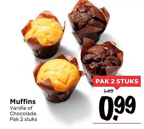 Vomar Muffins Vanille Of Chocolade