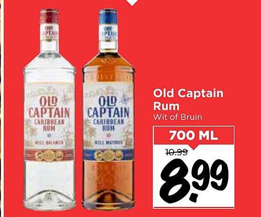Vomar Old Captain Rum Wit Of Bruin