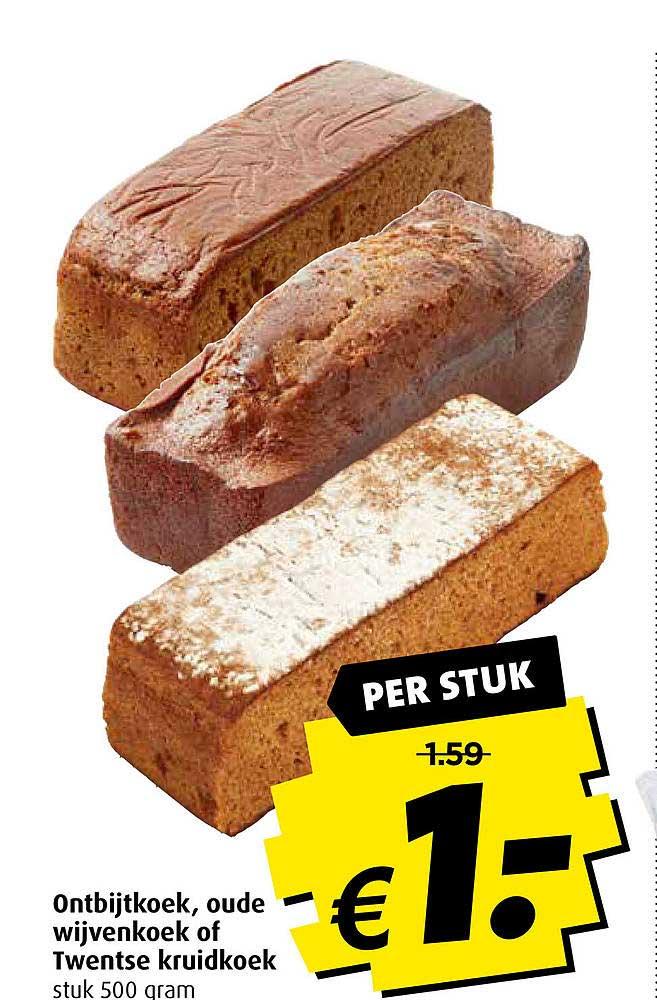 Boni Ontbijtkoek, Oude Wijvenkoek Of Twentse Kruidkoek
