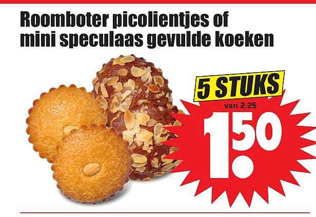 Dirk Roomboter Picolientjes Of Mini Speculaas Gevulde Koeken