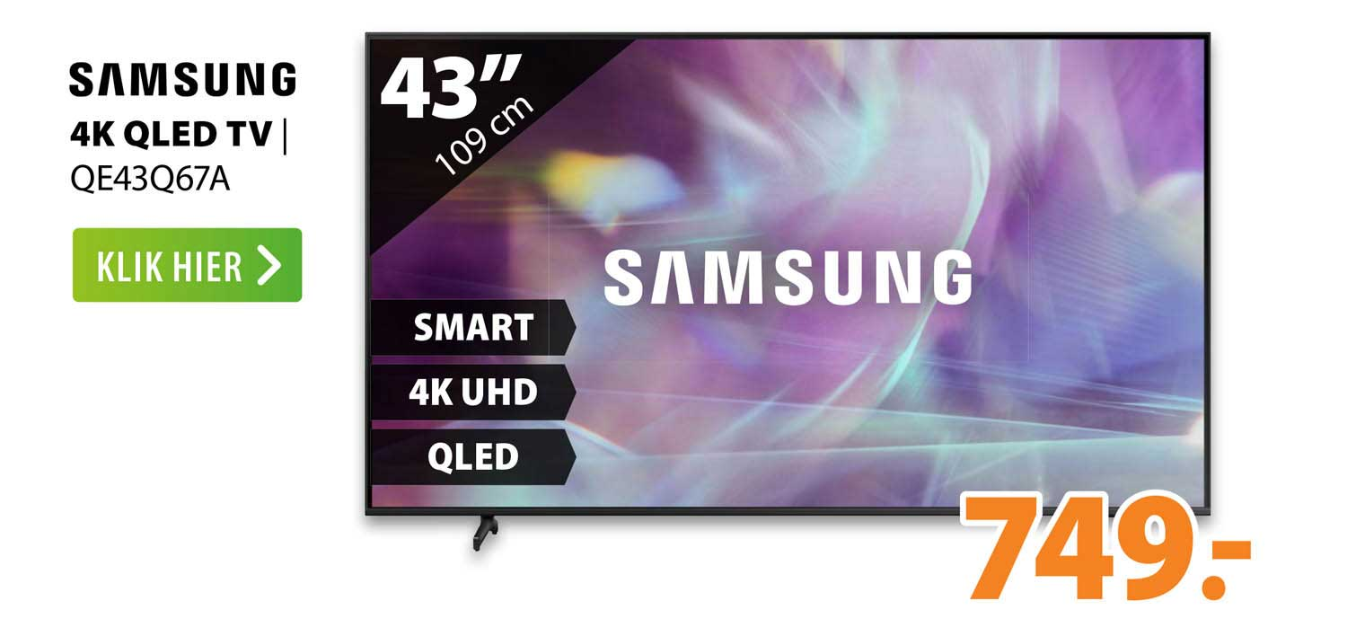 Expert Samsung 4K QLED TV   QE43Q67A