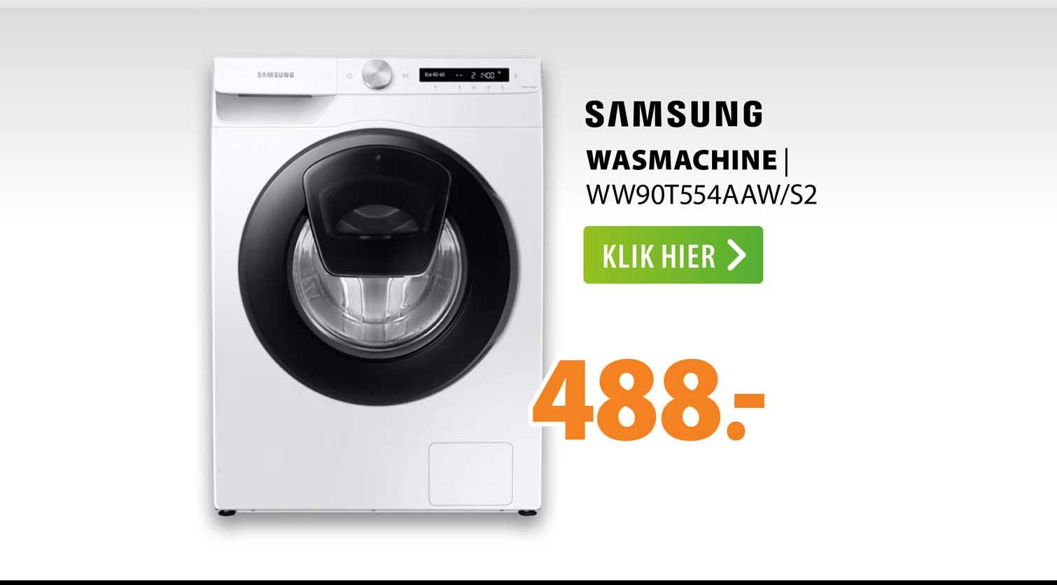 Expert Samsung Wasmachine   WW90T554AAW-S2