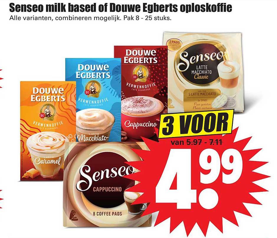 Dirk Senseo Milk Based Of Douwe Egberts Oploskoffie