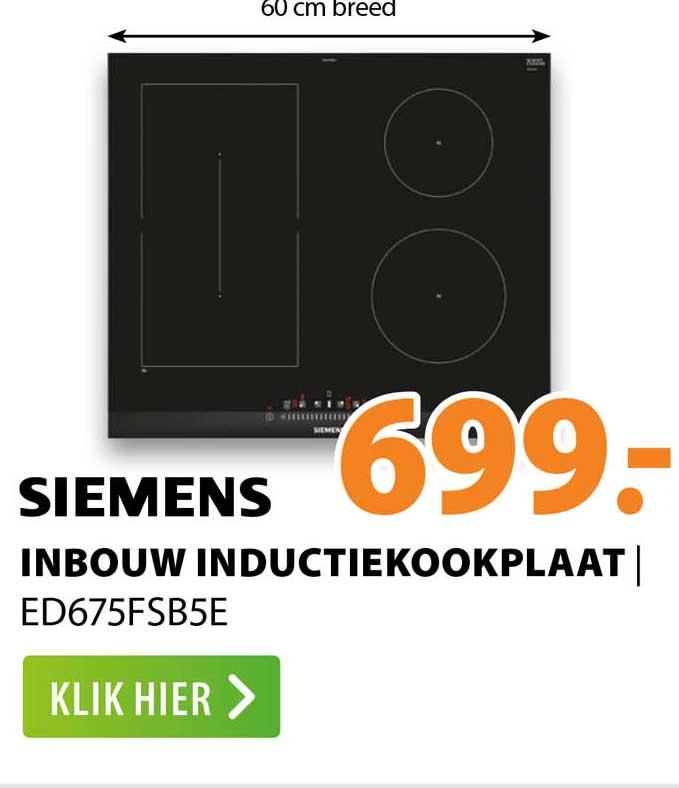 Expert Siemens Inbouw Inductiekookplaat   ED675FSB5E