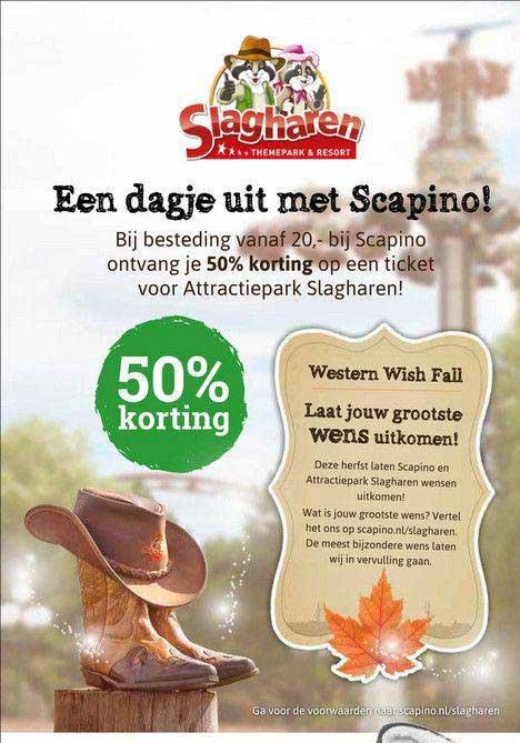 Scapino Slagharen Themepark & Resort 50% Korting