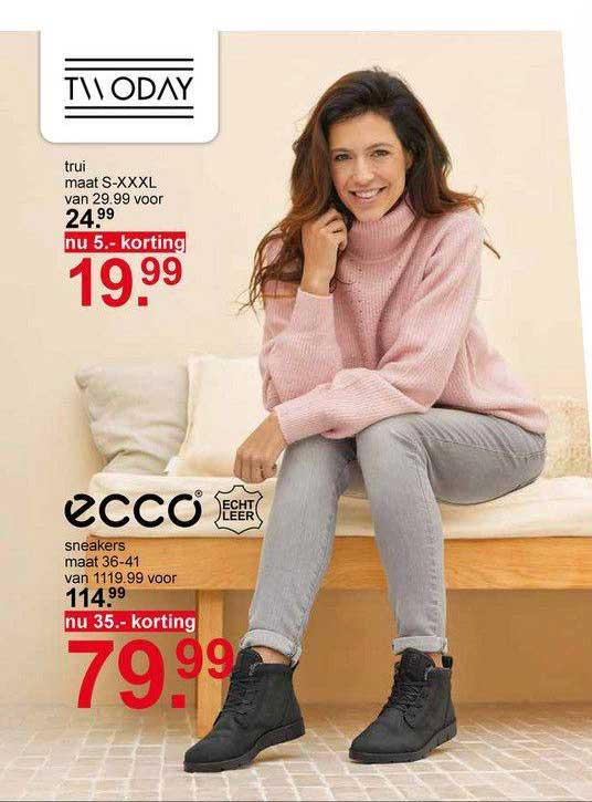 Scapino Twoday Trui 5.- Korting Of Ecco Sneakers 35.- Korting