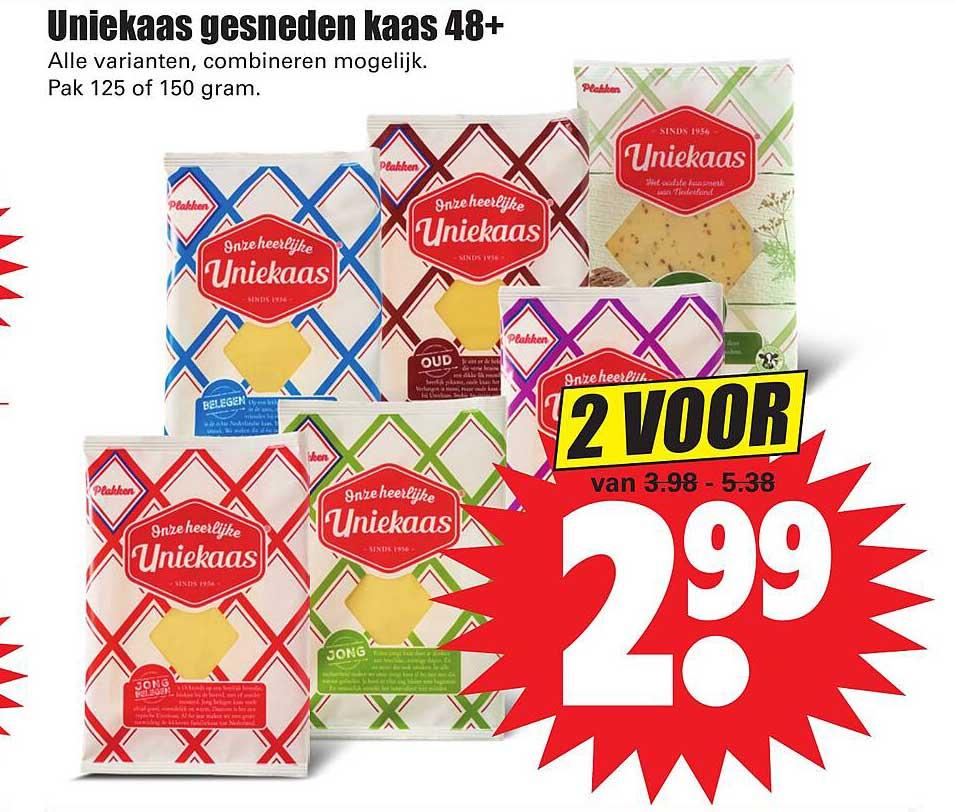 Dirk Uniekaas Gesneden Kaas 48+