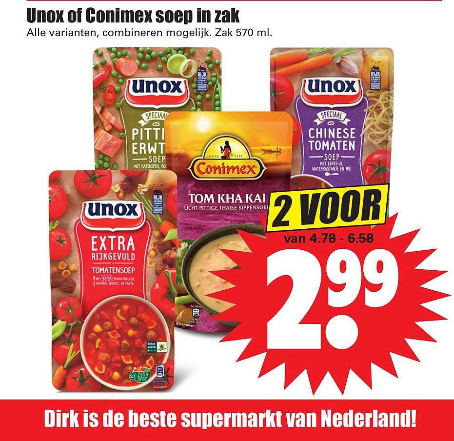 Dirk Unox Of Conimex Soep In Zak