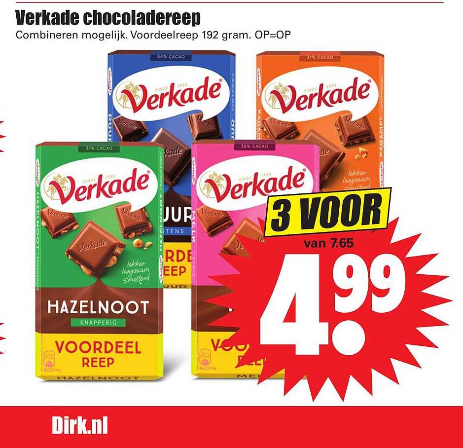 Dirk Verkade Chocoladereep