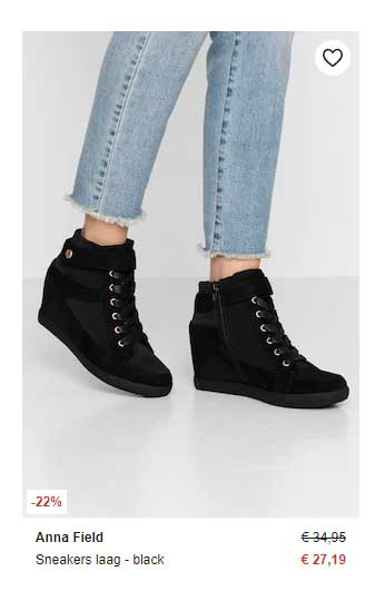 Zalando Anna Field Sneakers Laag Black