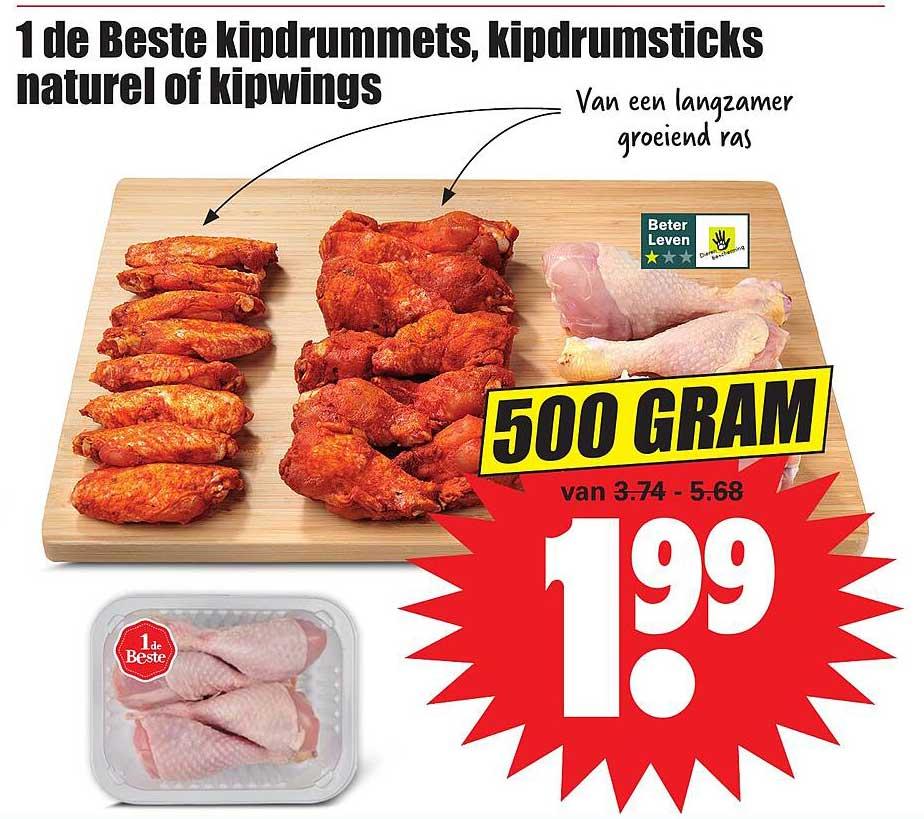 Dirk 1 De Beste Kipdrummets, Kipdrumsticks Naturel Of Kipwings