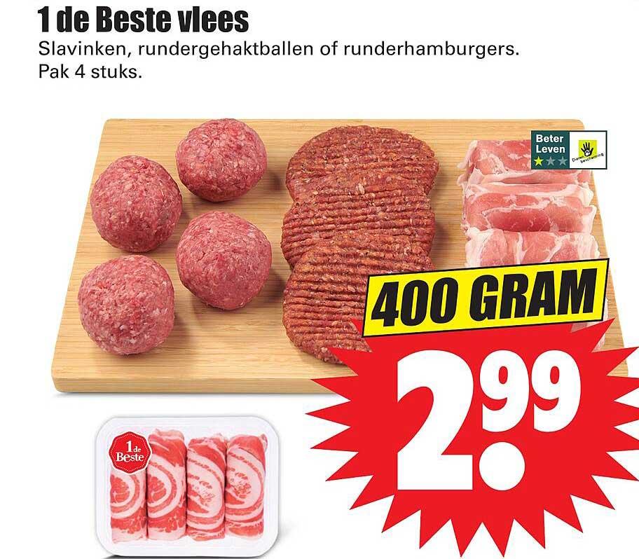 Dirk 1 De Beste Vlees Slavinken, Rundergehaktballen Of Runderhamburgers