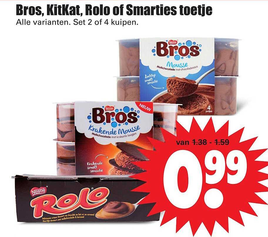Dirk Bros, Kitkat, Rolo Of Smarties Toetje
