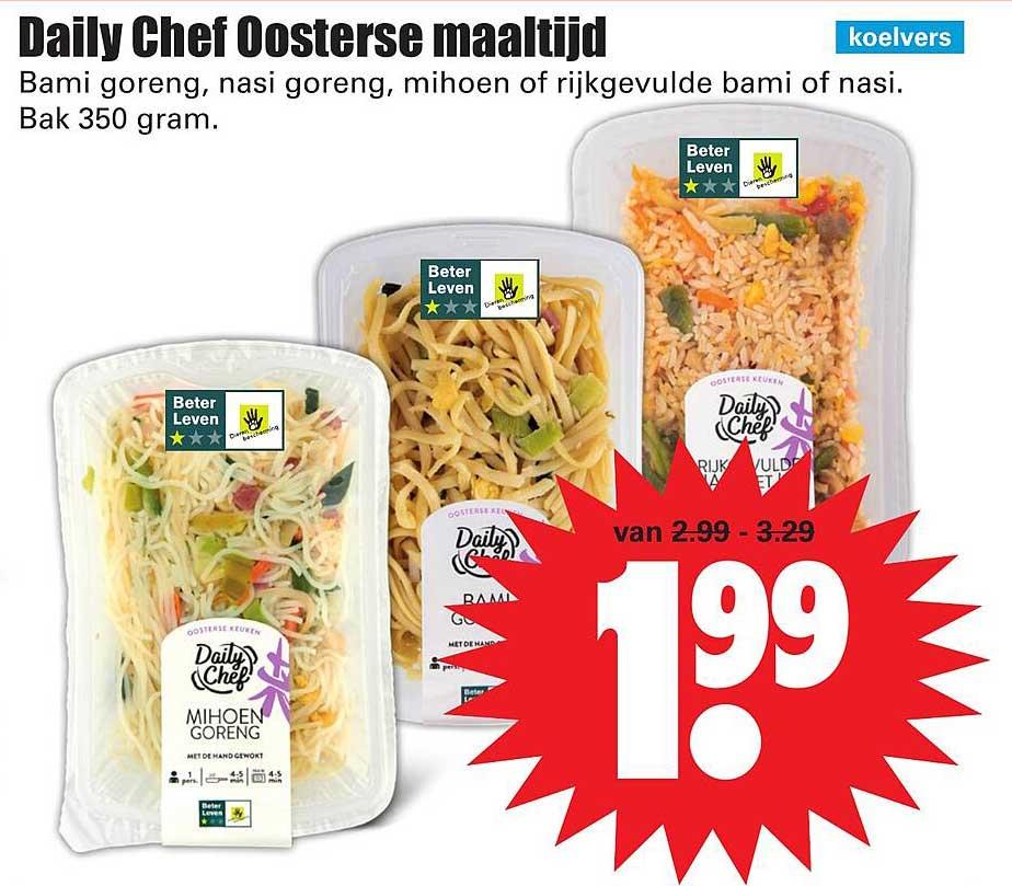 Dirk Daily Chef Oosterse Maaltijd Bami Goreng, Nasi Goreng, Mihoen Of Rijkgevulde Bami Of Nasi