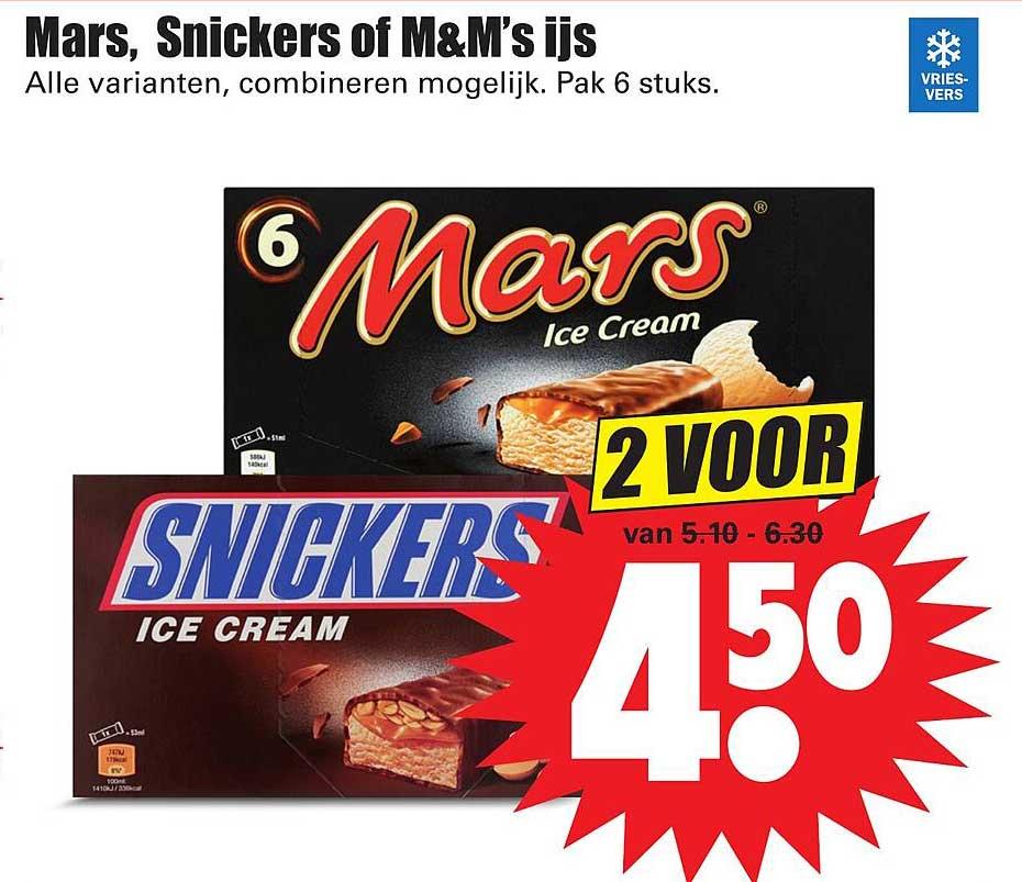 Dirk Mars, Snickers Of M&M's Ijs