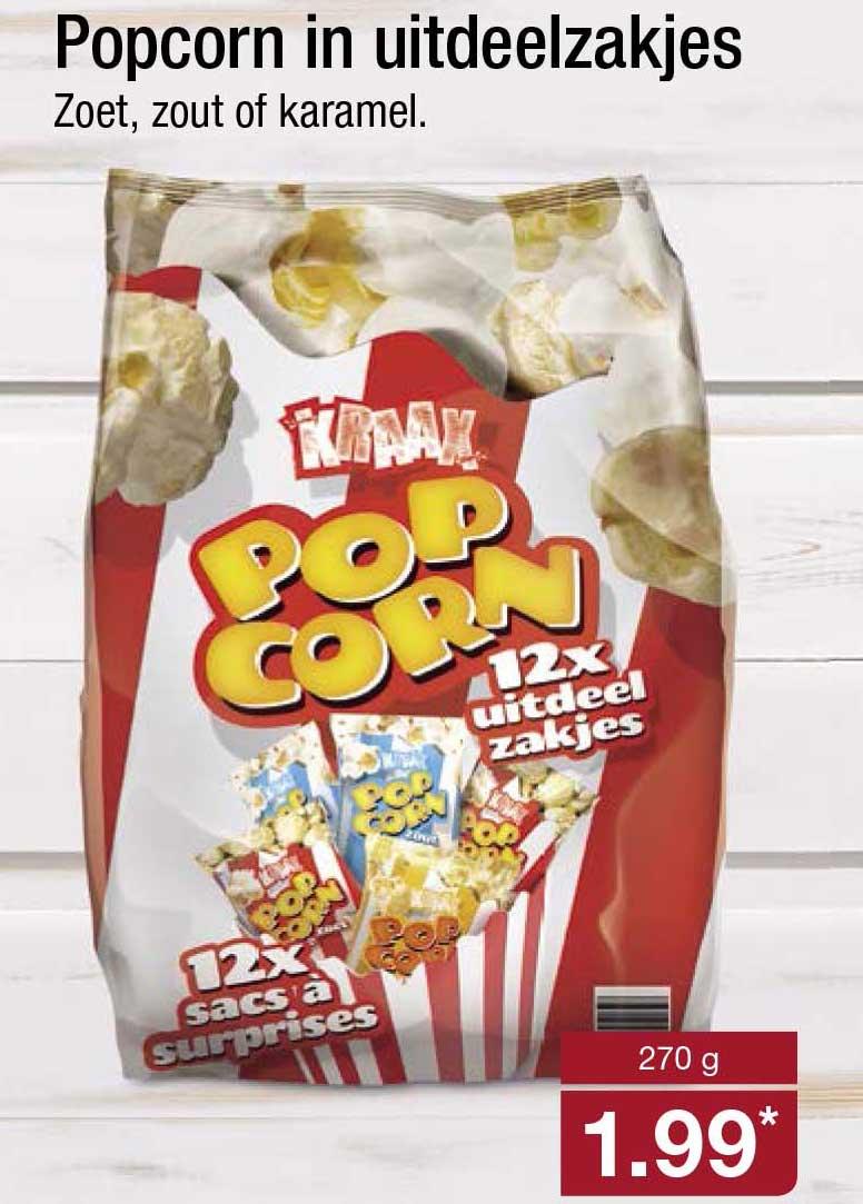 ALDI Popcorn In Uitdeelzakjes
