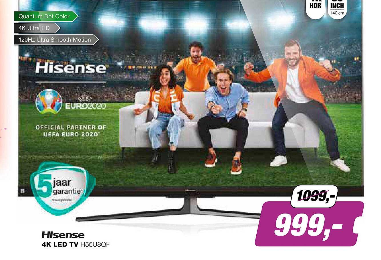 EP Hisense 4K LED TV H55U8QF