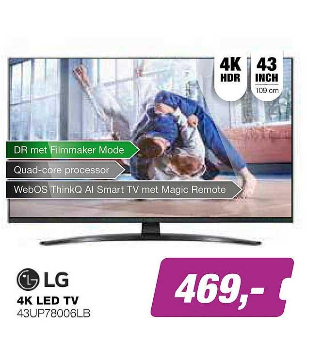 EP LG 4K LED TV 43UP78006LB