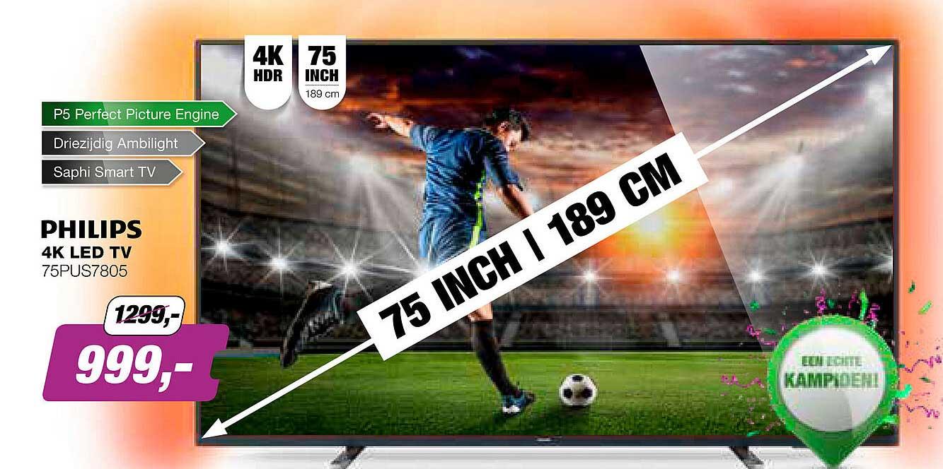 EP Philips 4K LED TV 75PUS7805