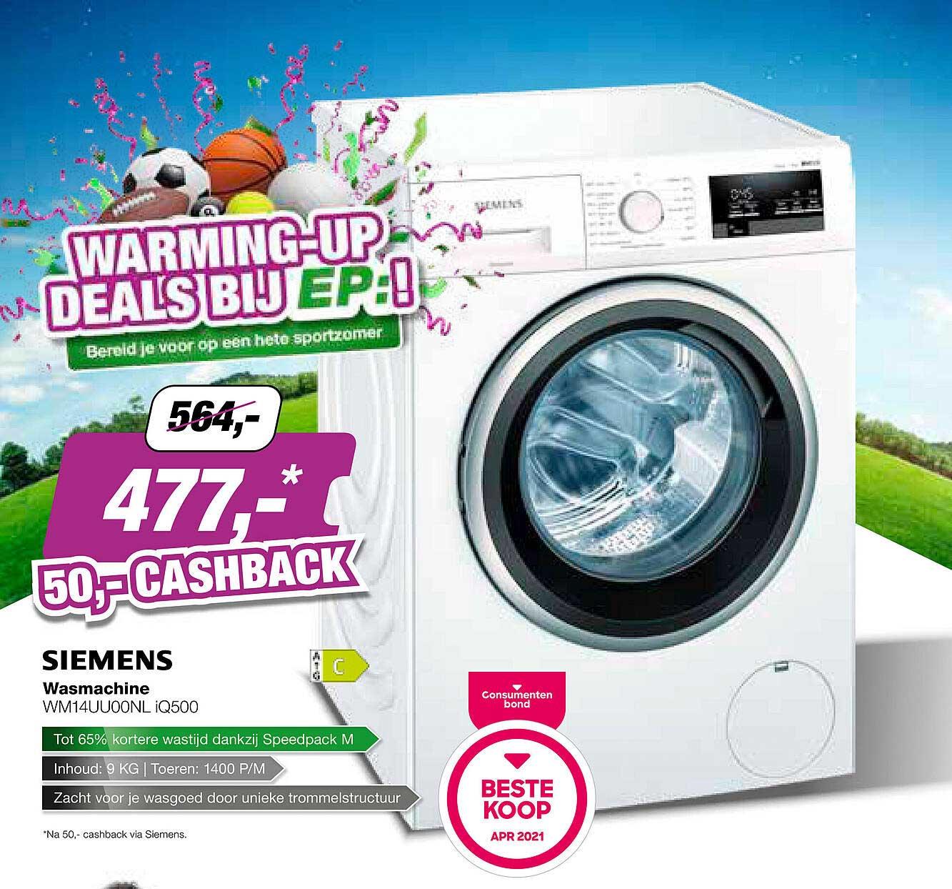 EP Siemens Wasmachine WM14UU00NL IQ500