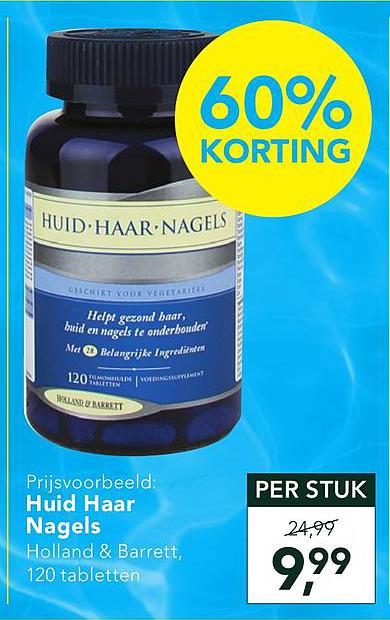 Holland & Barrett Huid Haar Nagels 60% Korting