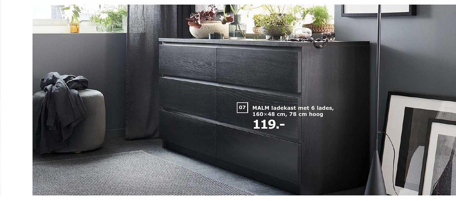 IKEA Malm Ladekast Met 6 Lades