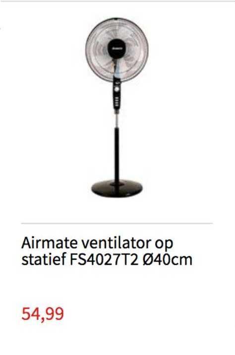 Handyman Airmate Ventilator Op Statief FS4027T2 040cm