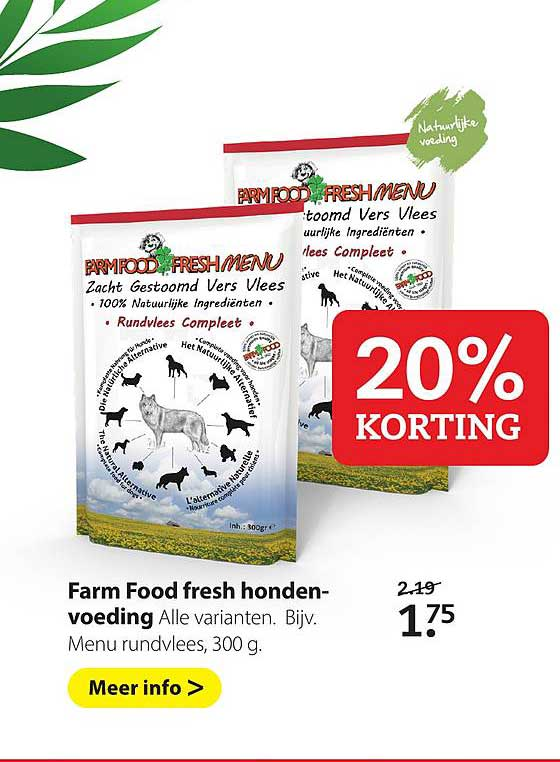 Pets Place Farm Food Fresh Hondenvoeding 20% Korting