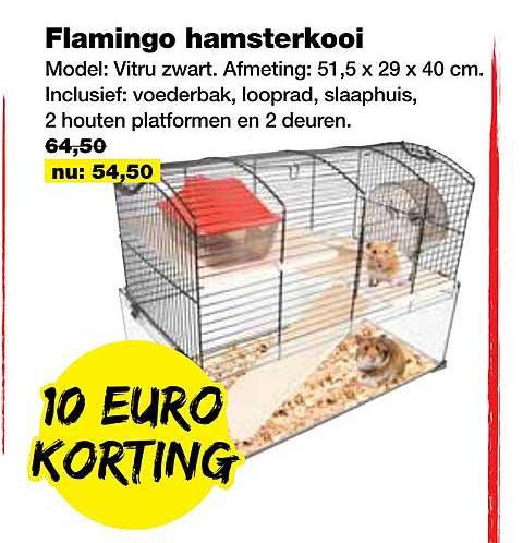 Jumper Flamingo Hamsterkooi 10 Euro Korting