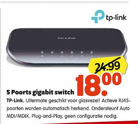 Plentyparts 5 Poorts Gigabit Switch TP-Link