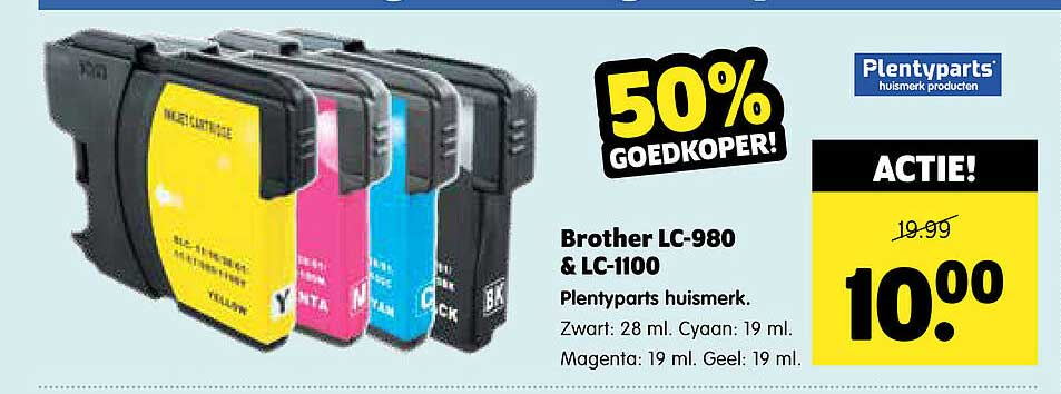 Plentyparts Brother LC-980 & LC-1100 Plentyparts Huismerk