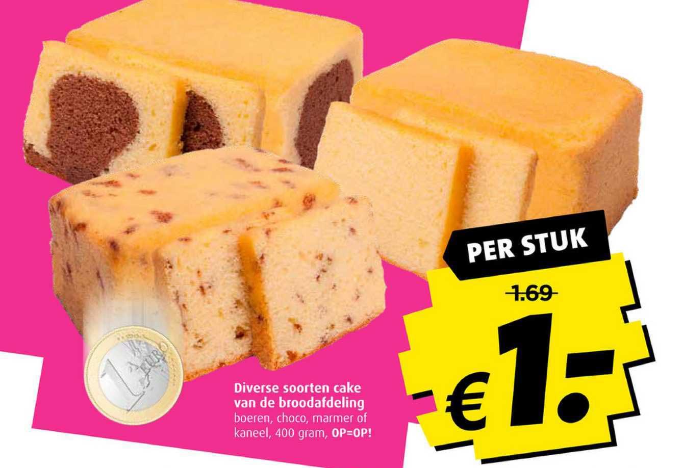 Boni Diverse Soorten Cake Van De Broodafdeling Boeren, Choco, Marmer Of Kaneel