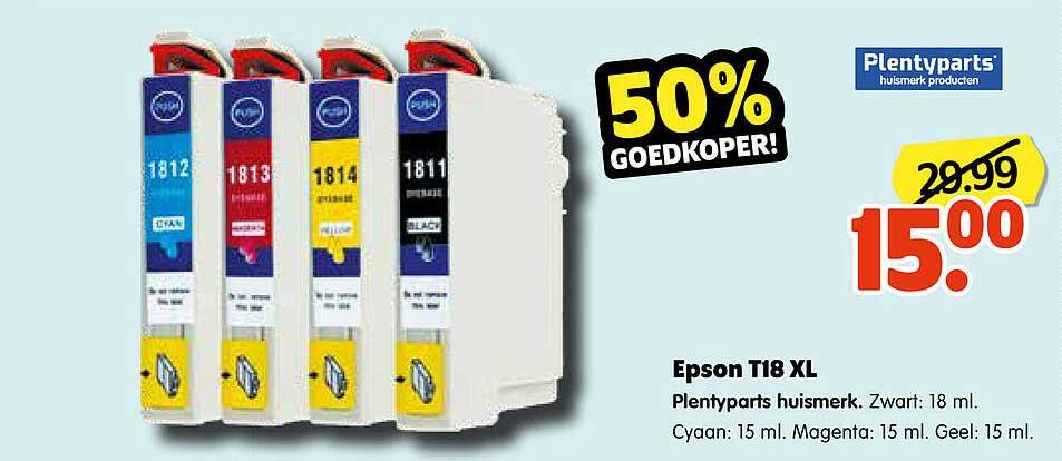 Plentyparts Epson T18 XL Plentyparts Huismerk